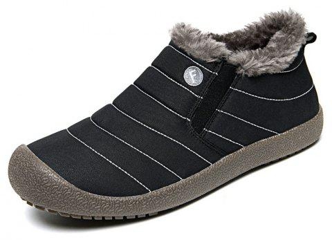 Men's Winter Fashion Warm Cotton Snow Boots - BLACK EU 44