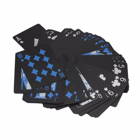 Black Diamond Cards Water-resistant Deck Collection Poker Playing Toy Gift Creative - BLACK