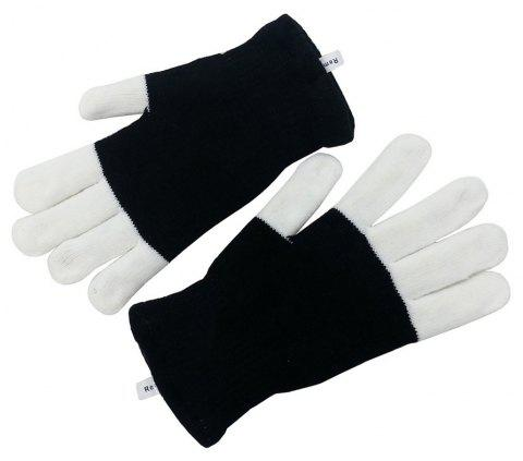 6 Modes LED Gloves Flashing Light for Party Dance Show - BLACK 1 PAIR