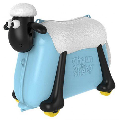 shaun the sheep Ride on Toy and Suitcase - LIGHT SKY BLUE