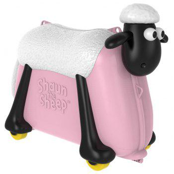 shaun the sheep Ride on Toy et valise - Rose