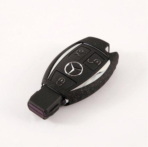 TPU Car Key Case For Benz A Design - BLACK