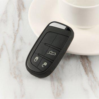 TPU Car Key Case For Jeep Compass /Renegade - BLACK