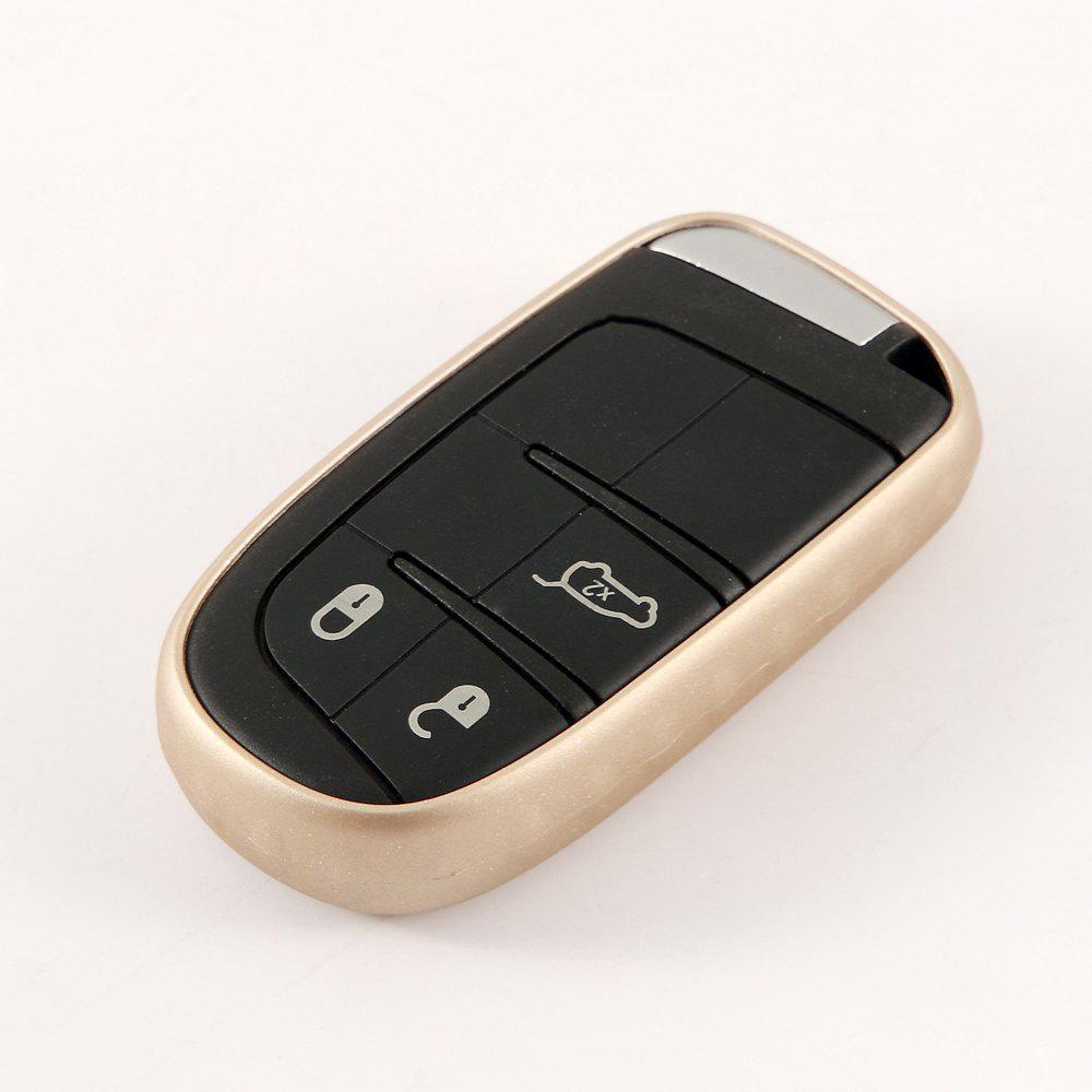 TPU Car Key Case For Jeep Compass /Renegade - BLONDE