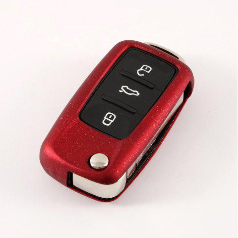TPU Car Key Case For Volkswagen A Design - RED