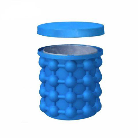 Portable Silicone Ice Bucket 1PCS - DODGER BLUE