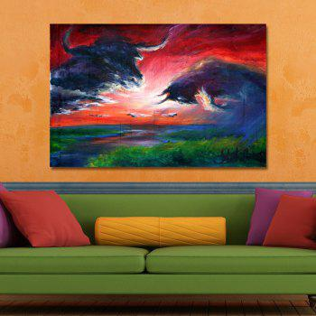 DYC Abstract Landscape Painting Print Art - multicolor