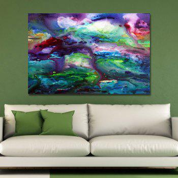 DYC Color Abstract Dye Painting Print Art - multicolor