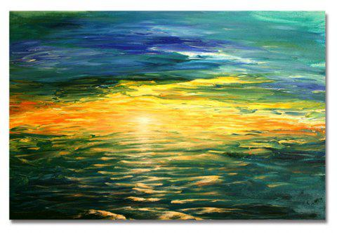 DYC Abstract Golden Coast Print Art - multicolor