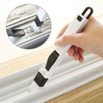 Cleaning Brush for Cleaning Kitchen Doors and Windows in Keyboard Corner - BLACK 18.5*2CM