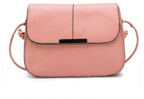 Lychee Stripes Sewing Lady Lady'S Satchel Crossbody Bag - LIGHT PINK