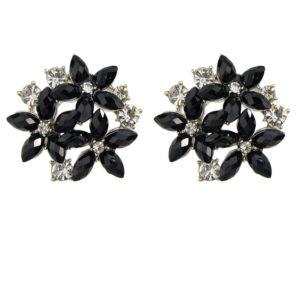 Fashion Minimalist Metal Flower Earrings - multicolor
