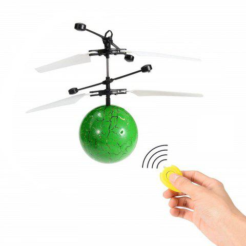 RC Infrared Induction Helicopter Ball Set-in Shinning LED Lights for Kids - GREEN APPLE