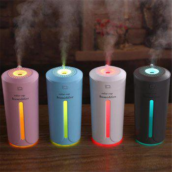 USB Night Light Humidifier Aroma Air Purifier for Family /Office/ Desktop /Car - GRAY