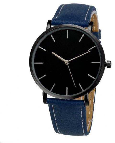 Fashion Vintage Casual Minimalist Analog Quartz Sport Wrist Watch - PEACOCK BLUE