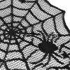 Black Spider Web Perfect for Halloween Dinner Parties and Scary Movie Nights - BLACK