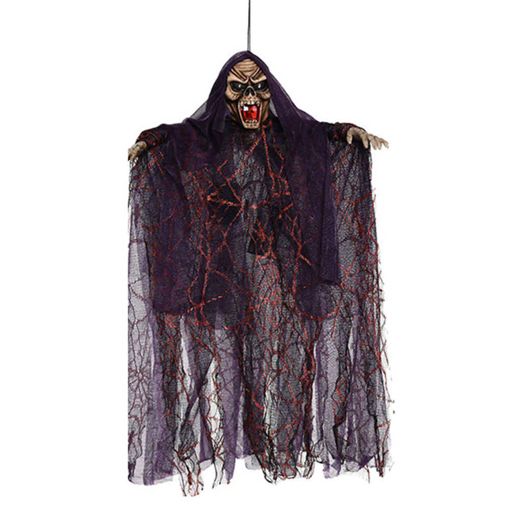 Halloween Decoration Electric Sound Control Hanging Ghost Horror Tricky Toy - multicolor B