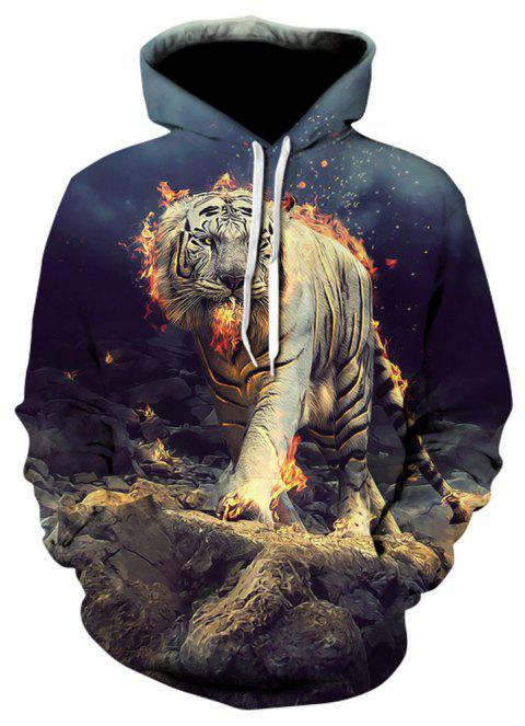 New Casual Fashion Leopard 3D Printed Hoodies - multicolor 3XL