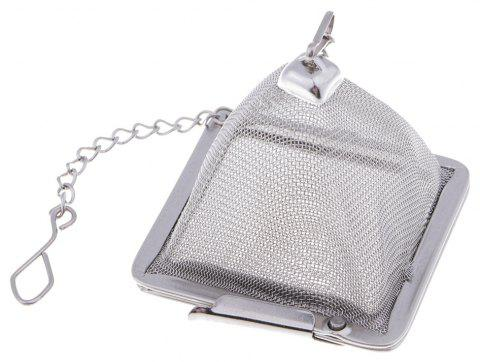 Stainless Steel Tea Infuser Strainer Herb Spice Filter - SILVER