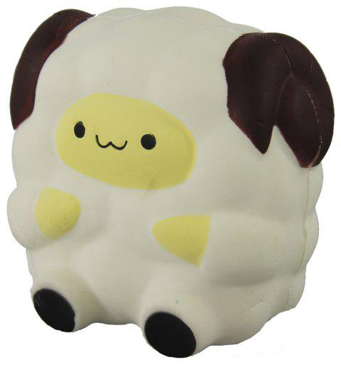 Jumbo Squishy White Sheep Relieve Stress Toy - WHITE