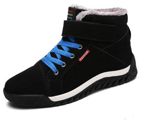 Men's Casual Comfortable Snow Boots Fashion Wild - BLACK EU 41