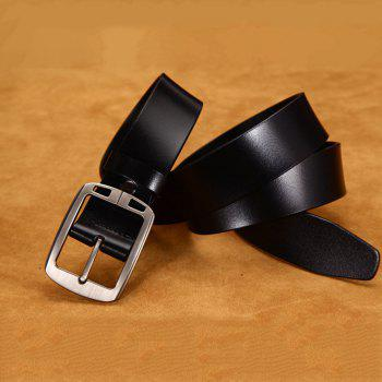 Classic Designs Men'S Two Layers of Cowhide Leather Belt - BLACK