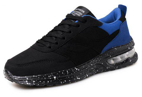 Fashionable Athletic Men and Women Breathable Recreational Running Shoes - BLUE EU 37