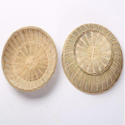 Bamboo Weaving Storage Basket Fruit Rattan Box - VANILLA