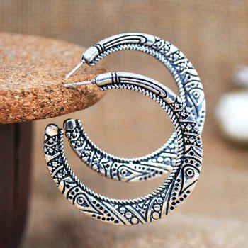 Retro Exaggerated Fashion Earrings - SILVER