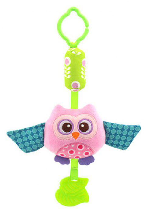 Simulation Owl Multi-Function Lathe Pendant To Comfort Children'S Plush Toys - PINK