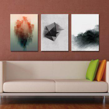 DYC 3PCS Interesting Abstraction Print Art - multicolor