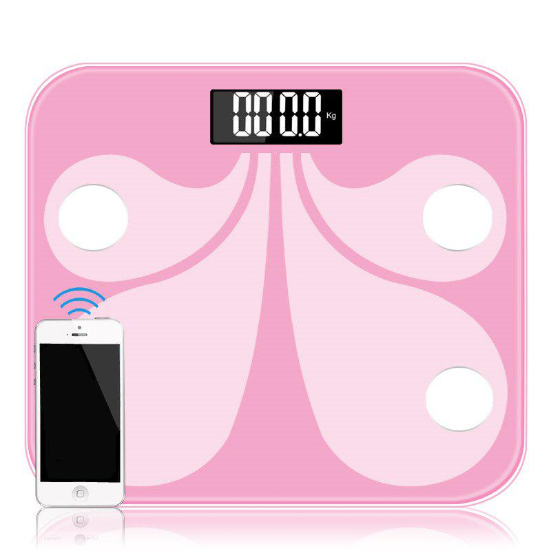 Electronic Bluetooth Floor Scales for Bathroom 180KG / 400LB - PINK