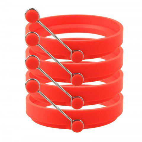 Nonstick Silicone Egg Rings Pancake Mold Round - RED