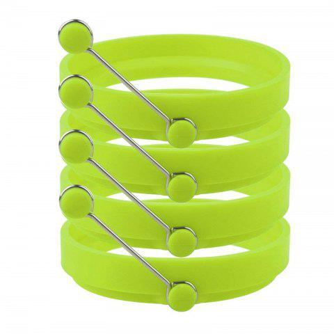 Nonstick Silicone Egg Rings Pancake Mold Round - GREEN