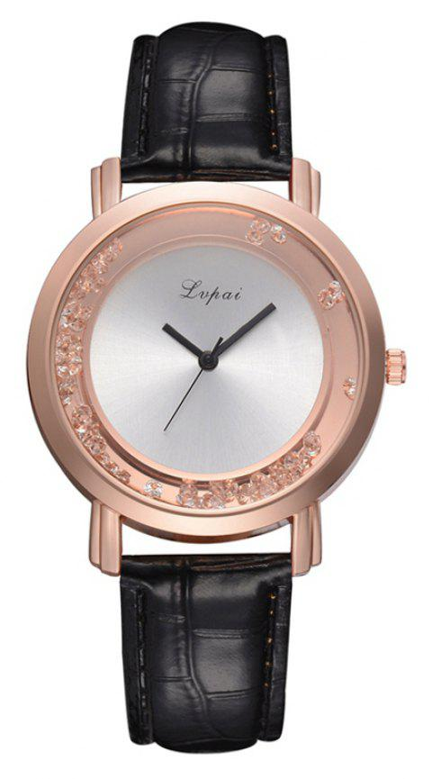 P666 Ladies Fashion Leather Watch - BLACK