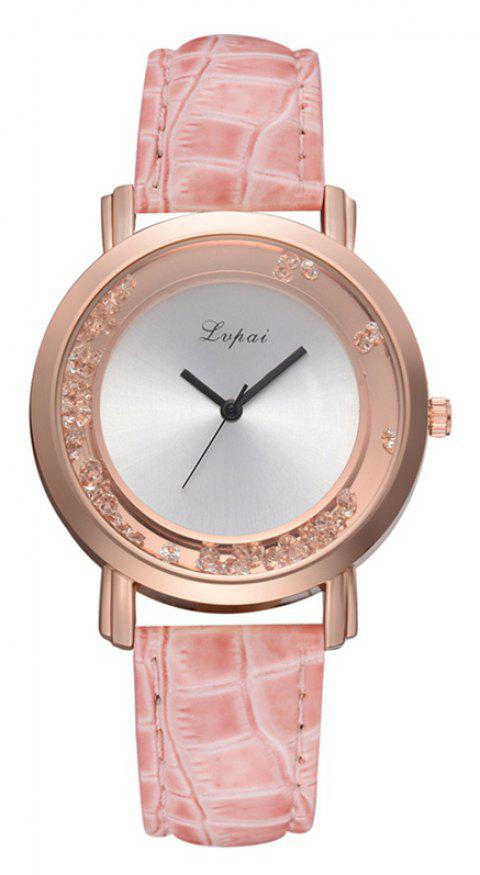 P666 Ladies Fashion Leather Watch - PINK