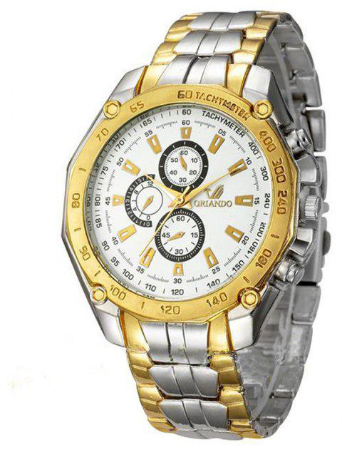 Fashion Casual Large Dial Stainless Steel Analog Military Watch - multicolor B