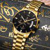 Men Luxury New Design Large Dial Stainless Steel Military Watch - GOLDEN BROWN