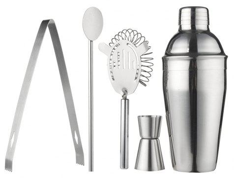 550ml Stainless Steel Cocktail Martini Shaker Cocktail Mixer Wine for Bar Party - SILVER