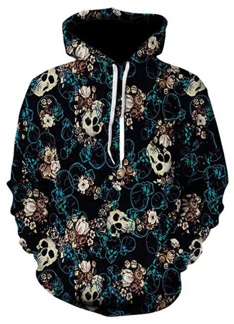 New Fashion Strange Casual 3D Printed Hoodies - multicolor D S