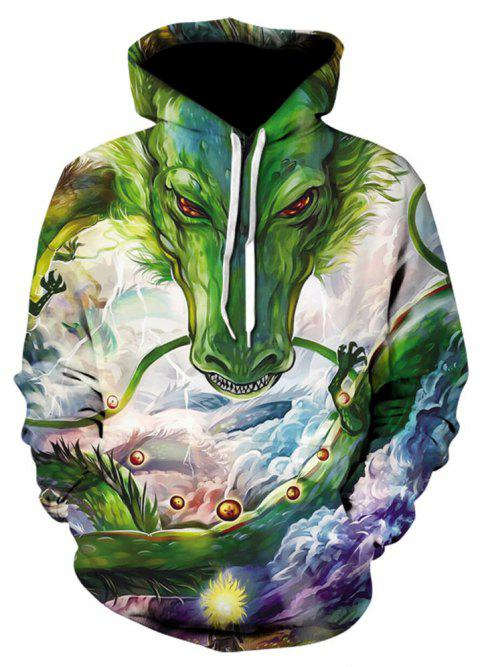 New Fashion Strange Casual 3D Printed Hoodies - multicolor A 5XL