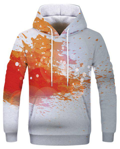 Fashion New Men's 3D Digital Printing Large Pocket Hoodie Sweater - multicolor XS