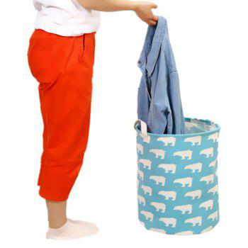 Multifunctional Collapsible Dirty Clothes Toy Waterproof Storage Basket - multicolor A