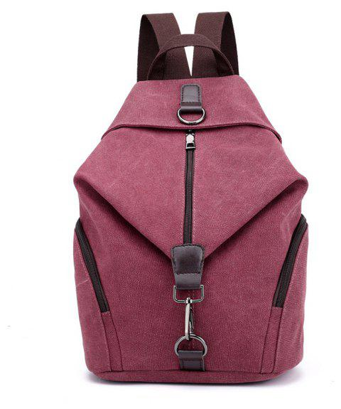 New Style Fashion Canvas Travelling School Backpack - MAROON