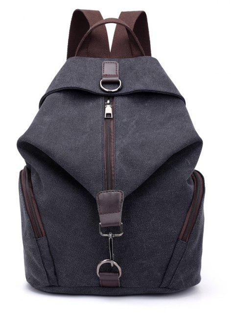 New Style Fashion Canvas Travelling School Backpack - BLACK