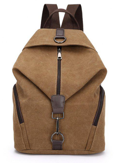 New Style Fashion Canvas Travelling School Backpack - COFFEE