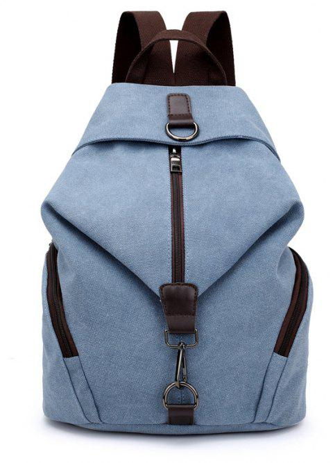 New Style Fashion Canvas Travelling School Backpack - BLUE GRAY