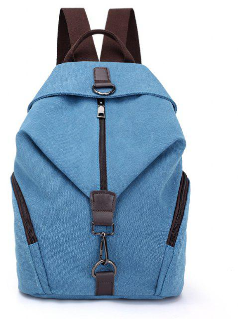 New Style Fashion Canvas Travelling School Backpack - LIGHT SKY BLUE