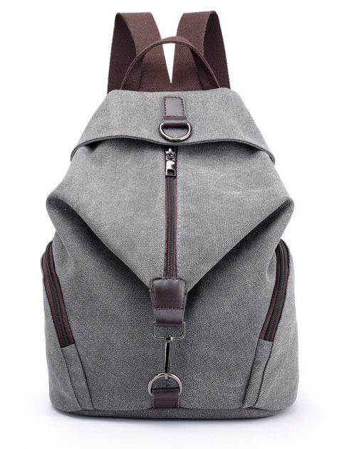 New Style Fashion Canvas Travelling School Backpack - LIGHT GRAY
