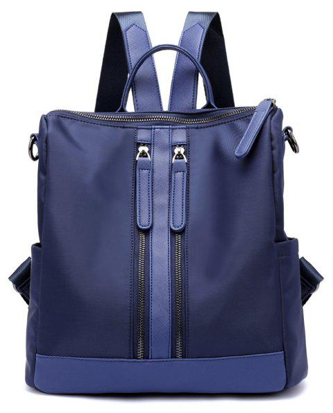 Fashion Casual Large Capacity Women Nylon Backpack - DEEP BLUE